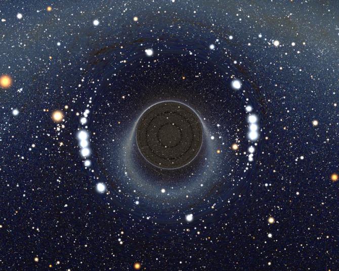 우주의 서로 다른 시공간을 연결하는 통로인